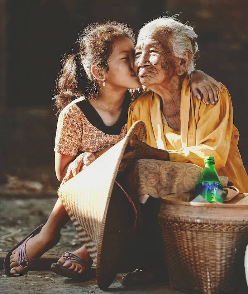 Indonesia Girl with Grandma 1